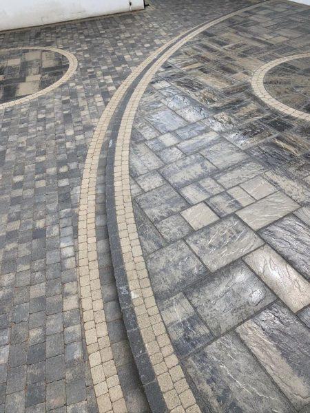 Historic slate circle, historic slate flags, tegula slate, tegula setts natural 1