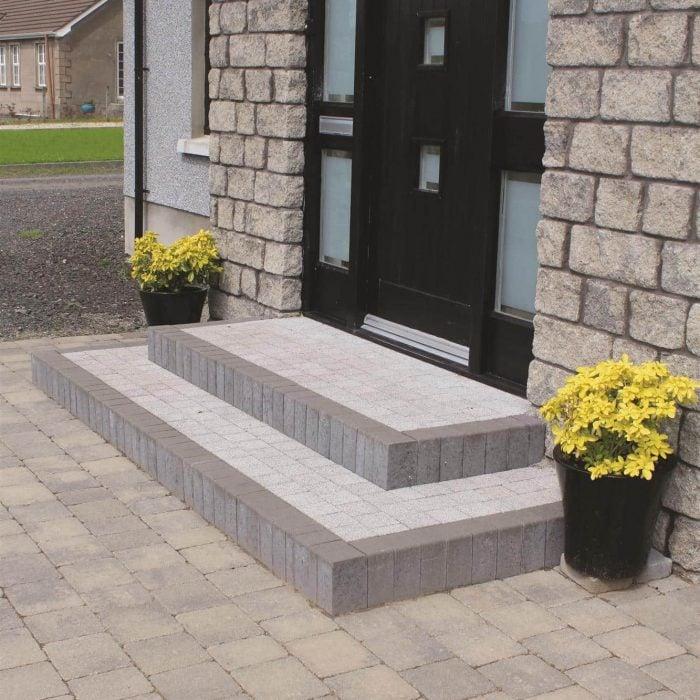 tobermore country stone cedar slate tegula slate sienna setts silver step risers charcoal