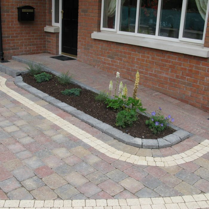 tobermore tegula heather retro heather sienna setts sandstone kerbstone natural mytobermore
