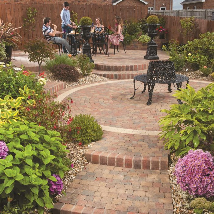 tobermore tegula setts circle heather step risers heather