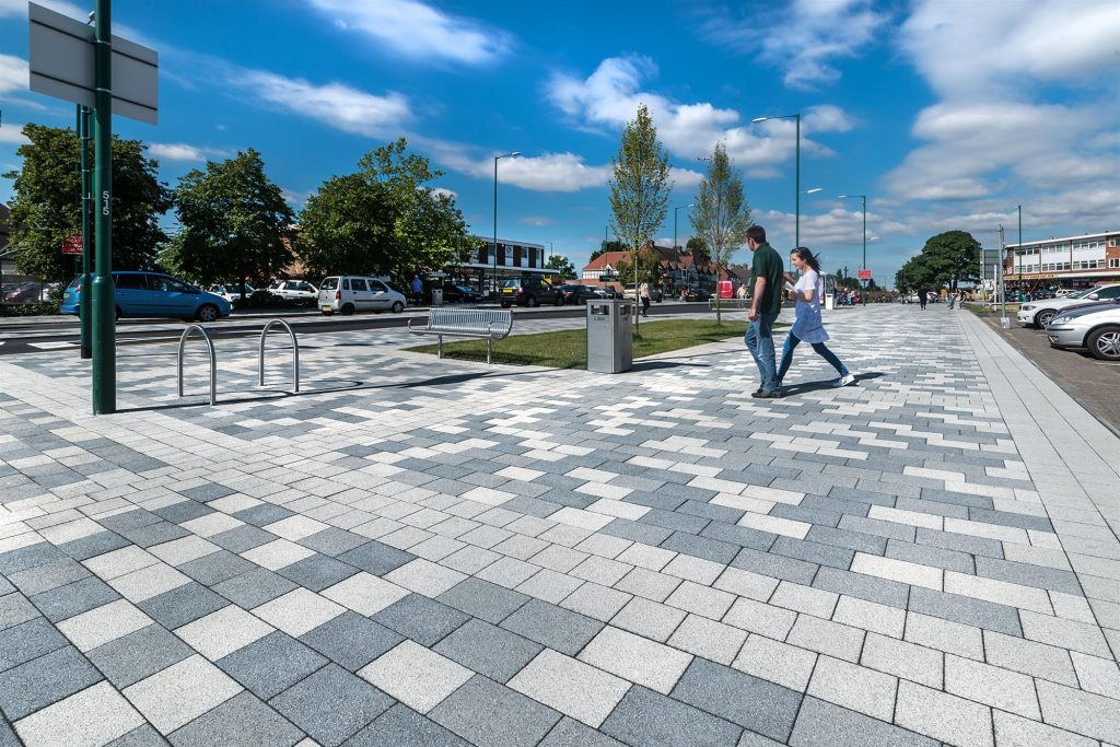 Granite Finish Paving - Hurst Lane Place, Solihull: Fusion in Silver, Mid Grey and Graphite