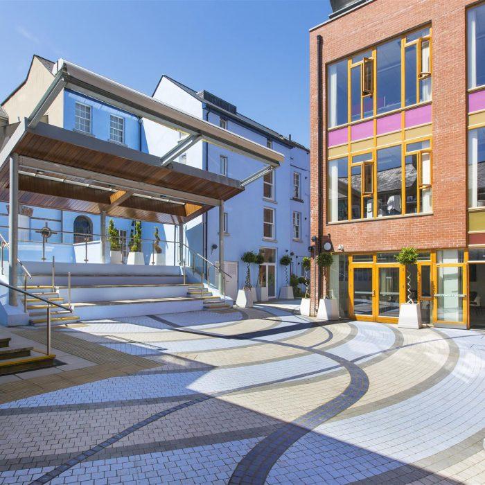 tobermore fusion azure blue silver graphite city centre garden of reflection lderry