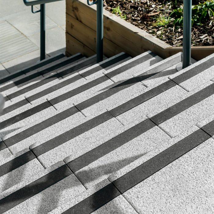 tobermore mayfair step flags silver with black delineation denbigh school milton keynes