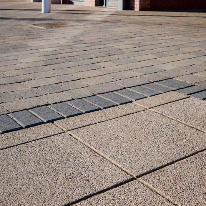 tobermore pedesta charcoal tegula trio cedar textured flags buff tibshelf community school derbyshire