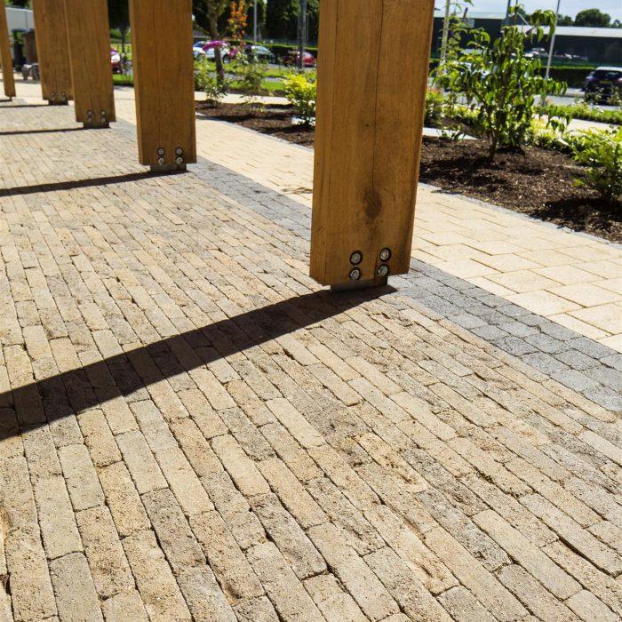 tobermore sienna sandstone tegula setts charcoal allen park leisure centre antrim