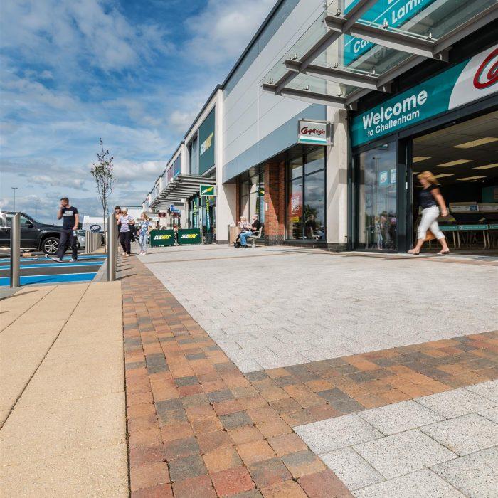 tobermore mayfair flags sandstone sienna silver tegula setts heather gallagher retail park cheltenham