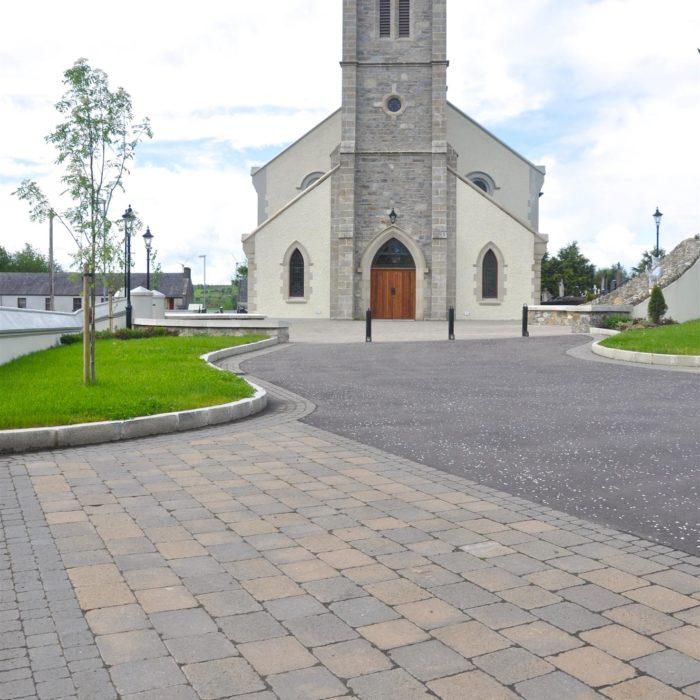 tobermore tegula bracken tegula setts charcoal st. patricks church castlederg