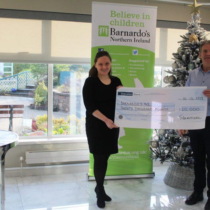 Tobermore Charity Donation to Barnardos Charity Northern Ireland